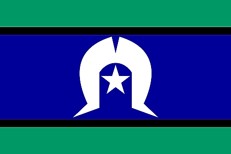 This flag represents the  Indigenous peoples of the Torres Strait Islands, part of Queensland, Australia
