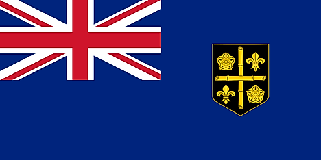 Second Flag of the Colony of Saint Lucia