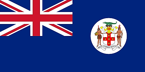 Flag of Jamaica between April 8, 1957 - July 13, 1962