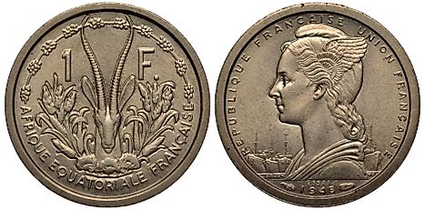 French Equatorial African 1 franc Coin