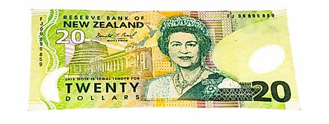 New Zealand 20 dollar Banknote