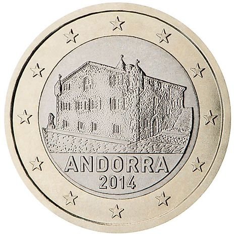 The Andorra €1 coin features Casa de la Vall which was the seat of parliament.