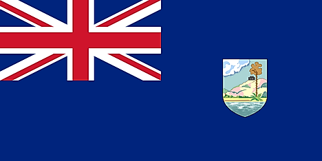 The colonial flag of Antigua and Barbuda had a solid blue background which featured the Union Jack in the canton and the colonial coat of arms in the fly side.Image credit: FOX 52, CC/Wikimedia Commons