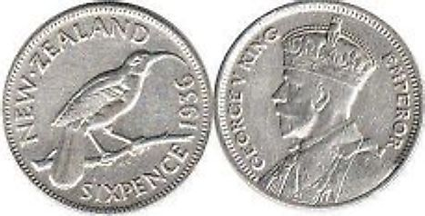 New Zealand 6 pence Coin