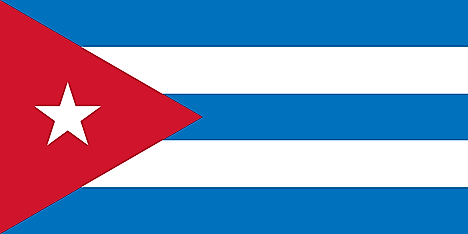 Flag of the First Republic of Cuba (1902–1906; 1909–1959)