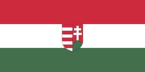 Flag of the short-lived Hungarian People's Republic, used between 1918–1919 under the rule of Károlyi