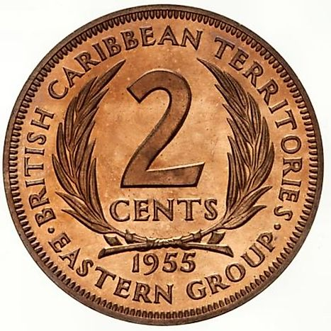 British West Indies 2 cents Coin
