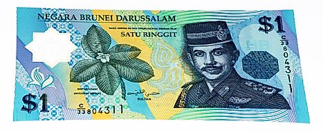 1 dollar banknote of Brunei.