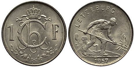 Luxembourgish 1 franc Coin