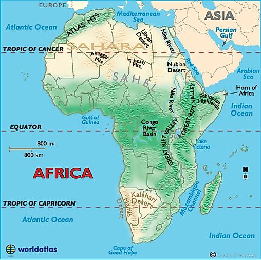 Ahaggar Mountains Africa Map Geography of Africa   Worldatlas.com