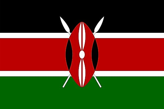 Kenya map geography of kenya map of kenya worldatlas flag of kenya gumiabroncs Choice Image