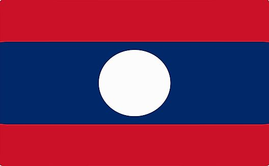 Flag of Lao People's Democratic Republic