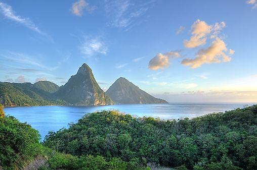 St. Lucia Maps Including Outline and Topographical Maps - Worldatlas.com
