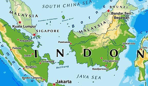 Indonesia Latitude, Longitude, Absolute and Relative Locations