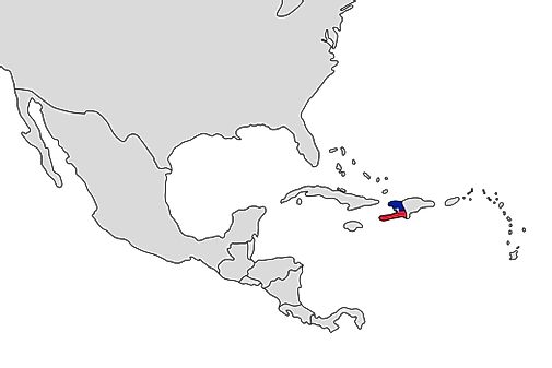 Haiti map geography of haiti map of haiti worldatlas what continent is haiti in gumiabroncs Choice Image