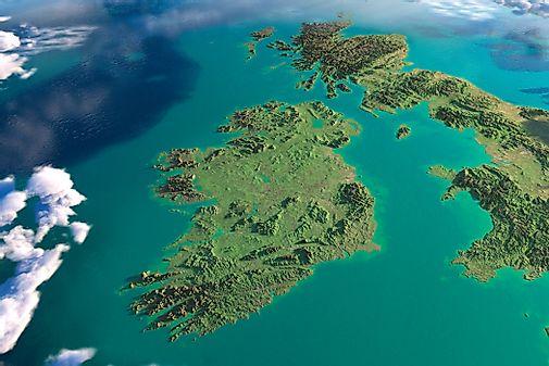 Ireland Elevation Map.Ireland Maps Including Outline And Topographical Maps Worldatlas Com