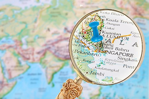 Singapore map geography of singapore map of singapore what continent is singapore in gumiabroncs Image collections