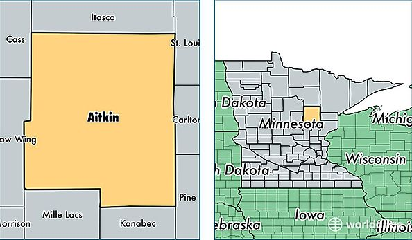 Aitkin County, Minnesota / Map of Aitkin County, MN / Where is ...