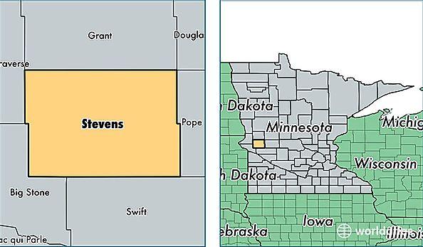 Stevens County, Minnesota / Map of Stevens County, MN ... on us map north dakota, us map wisconsin, atlas map of minnesota, us map michigan, state map of minnesota, us map illinois, us map south dakota, show map of minnesota,