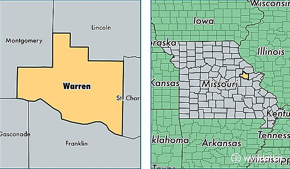 Warren County Missouri Map Of Warren County Mo Where Is Warren