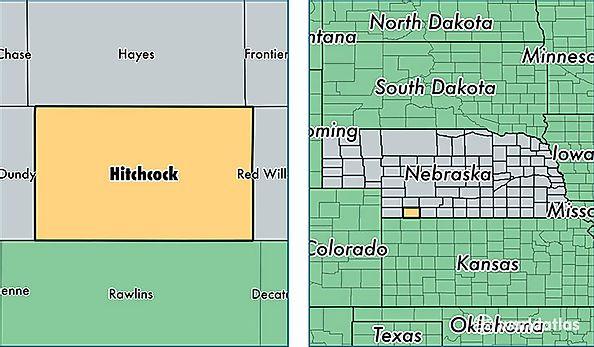 Counties Nebraska Map.Hitchcock County Nebraska Map Of Hitchcock County Ne Where Is
