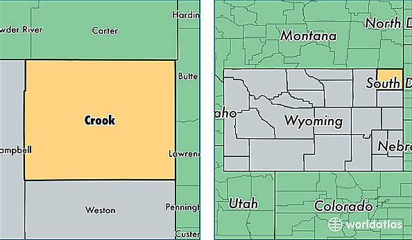 Crook County, Wyoming / Map of Crook County, WY / Where is ...