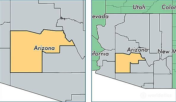 Where Is Arizona On The Us Map.Maricopa County Arizona Map Of Maricopa County Az Where Is