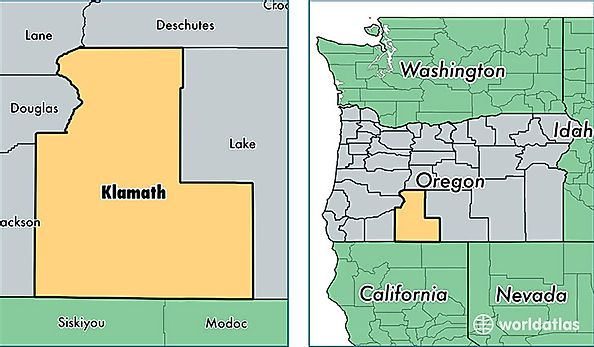 Klamath County Oregon Map Of Klamath County Or Where Is