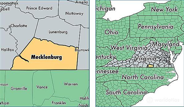 Mecklenburg County, Virginia / Map of Mecklenburg County, VA ... on map of nottoway co va, map of colleges in virginia, map of bath co va, map of halifax co nc, map of patrick co va, map of nelson co va, map of carroll co va, map of orange co va, map of wythe co va,