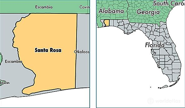 Santa Rosa County Florida Map Of Santa Rosa County Fl Where Is