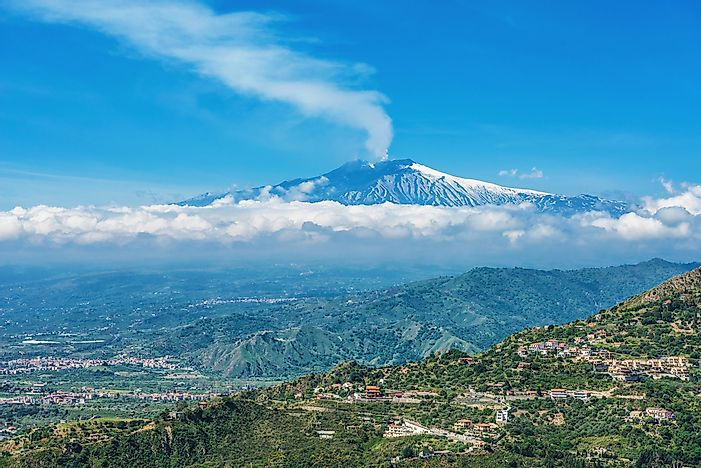 #2 Mount Etna - Largest Active Volcano in Europe