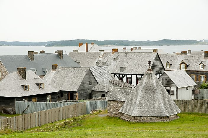 The historic buildings of Louisbourg.