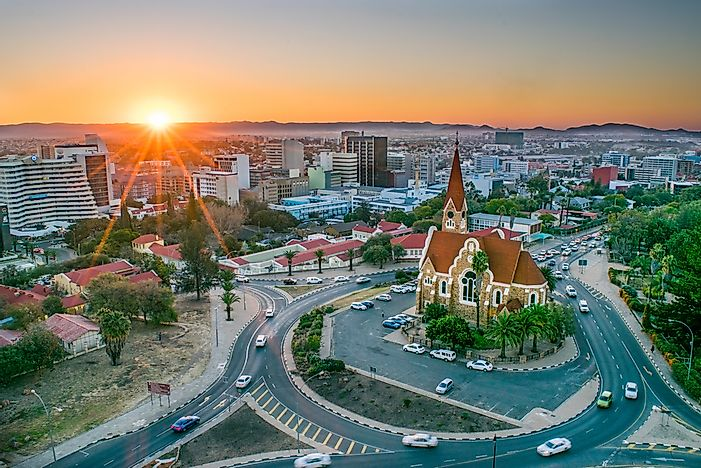 Windhoek, the capital city of Namibia.