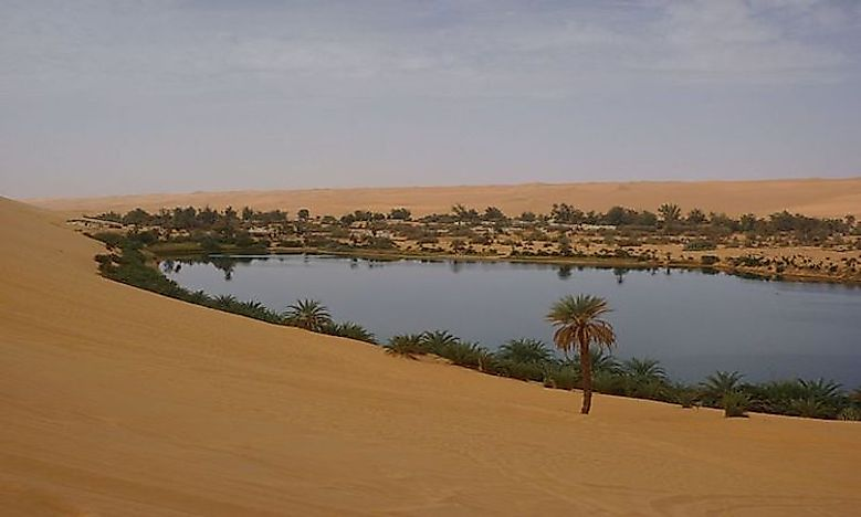 What Is An Oasis? - WorldAtlas.com Oasis Geography
