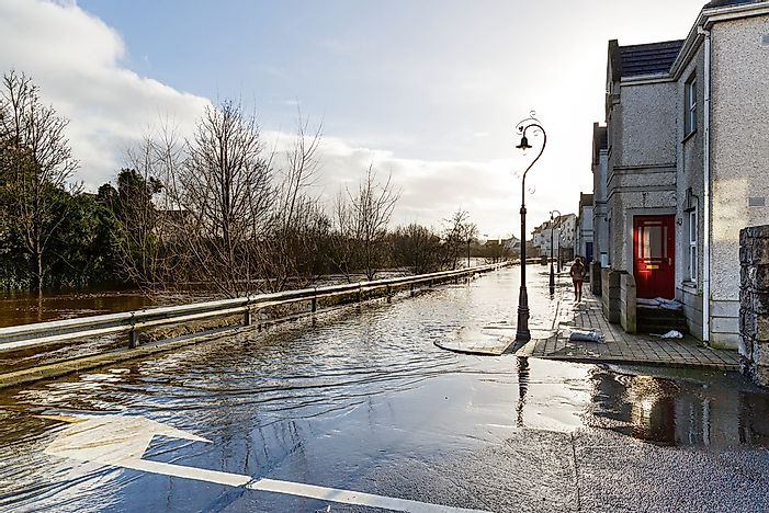 Flooding in Ireland.