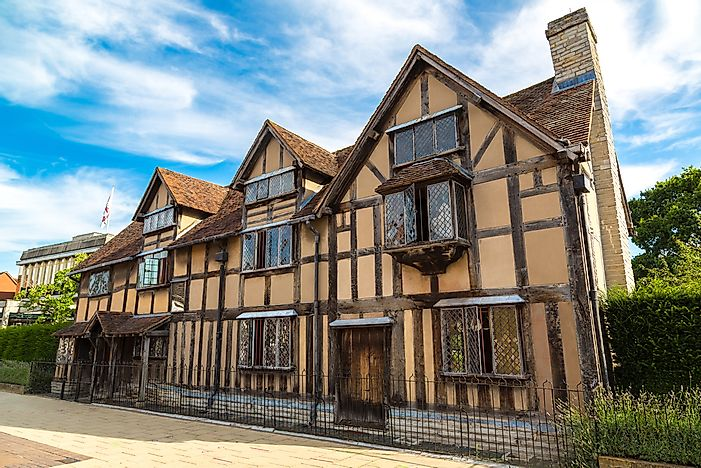 This house in Stratford-Upon-Avon is believed to be the birthplace of William Shakespeare.
