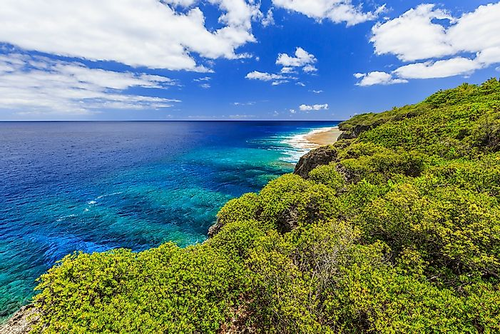 The beautiful landscape of Niue.
