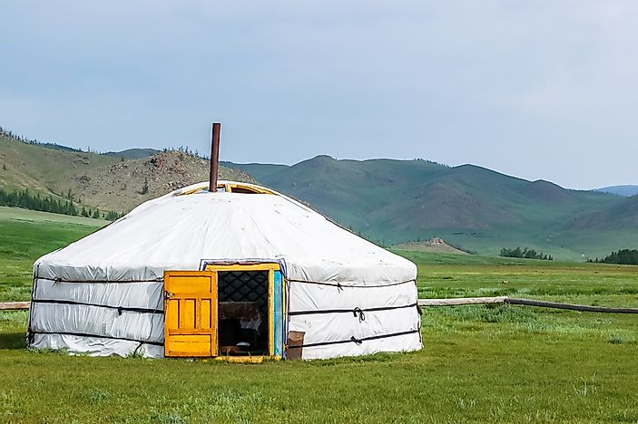A yurt in Mongolia.