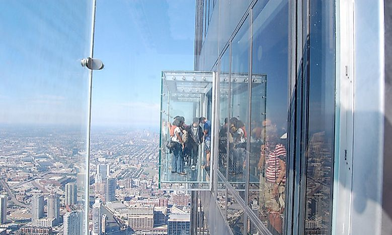 #7 The Ledge, Willis Tower, Chicago, US -