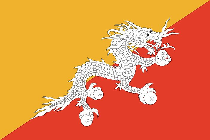 What Does The Flag Of Bhutan Look Like?