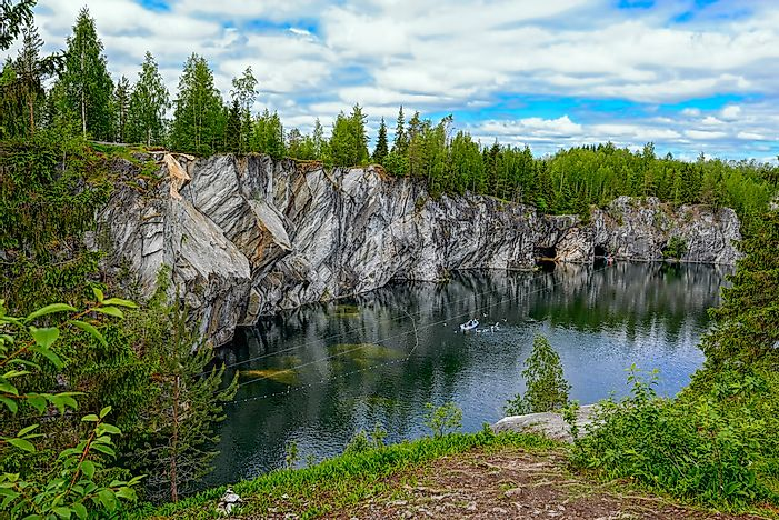 A quarry in the Northern Economic Region of Russia.
