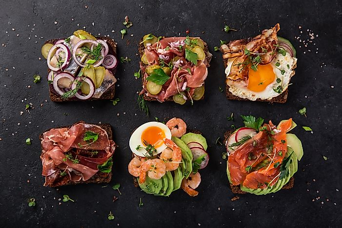 Traditional Danish open sandwiches.