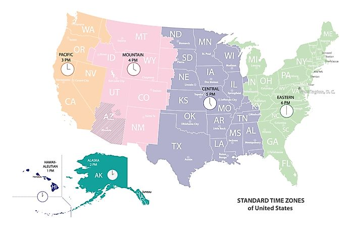 How Many Time Zones Are in Alaska?   WorldAtlas.com