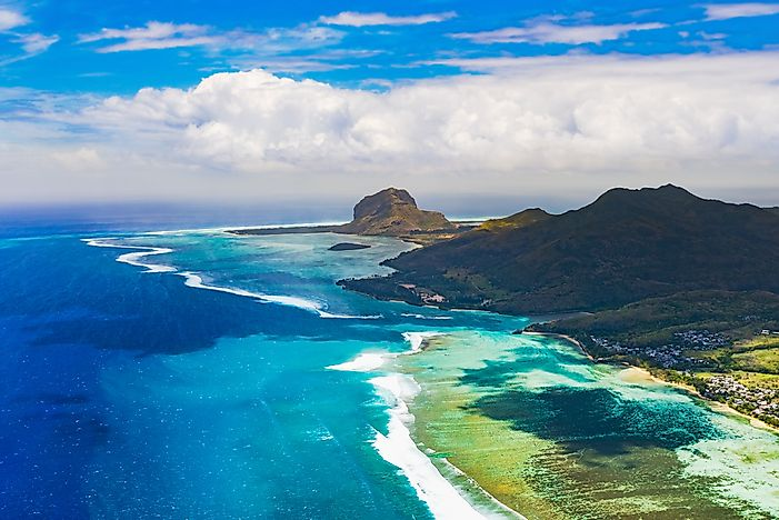 The landscape of Mauritius.