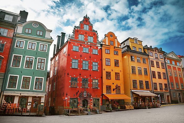 The architecture of Gamla stan.