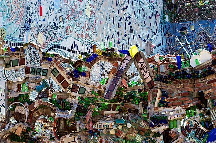 The eclectic appearance of Magic Gardens.