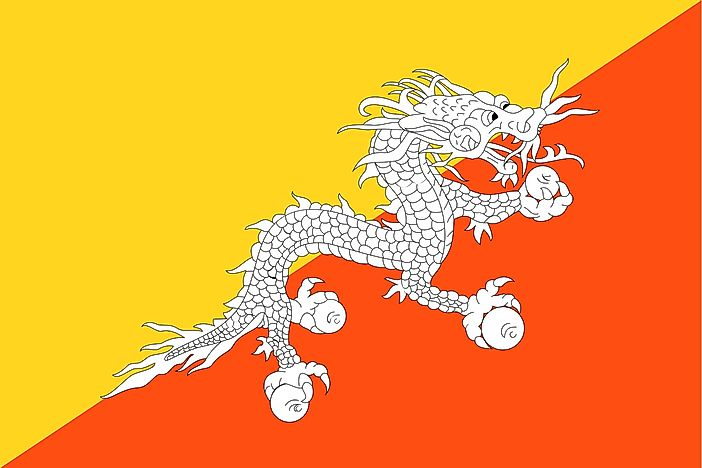 Country Flags That Feature a Dragon - WorldAtlas com