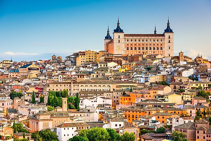 The ancient Spanish city of Toledo.