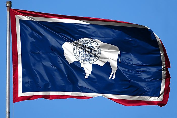 Wyoming State Flag - WorldAtlas com