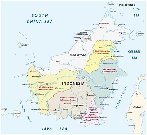 Which countries share the island of borneo worldatlas which countries share the island of borneo gumiabroncs Gallery